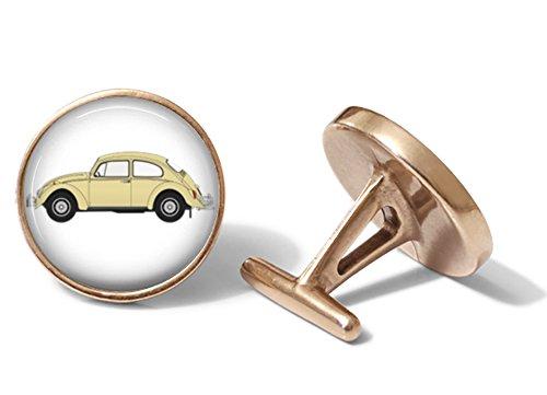 Retro Beetle Cufflinks (Solid Bronze)