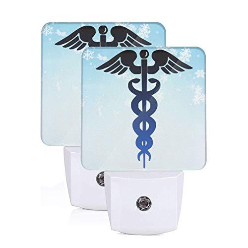 GHWEAQu Nurse Cross Clipart Fashion Plug-in Night Light, Warm White LED Nightlight, Dusk-to-Dawn Sensor Energy Efficient
