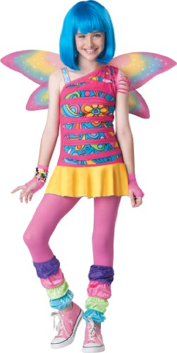 InCharacter Costumes Tween Rainbow  Fairy Costume, Rainbow Colored, Medium/10-12