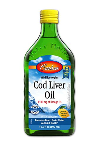 Fish Oil Lemon Flavor - Carlson Cod Liver Oil, Lemon, 1,100 mg Omega-3s, 500 mL