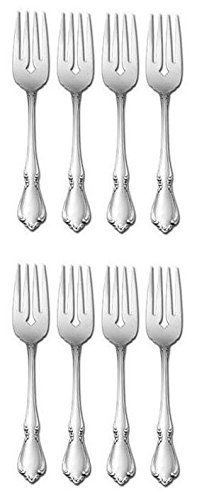 Oneida Chateau Stainless Salad Forks, Set of Eight