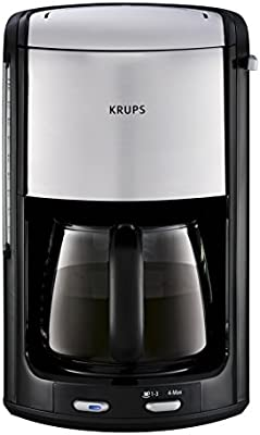 Krups Proedition INOX FMD3 - Cafetera (Negro, Cromo, 1,25L, 0,8m, 2,13 kg, 1100W, 229 x 255 x 358 mm)