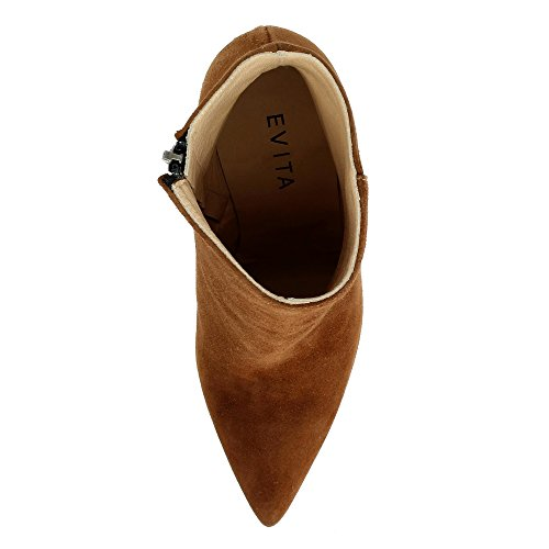 Femme Daim Bottines Shoes Evita Cognac Alina UqwHO1R8t