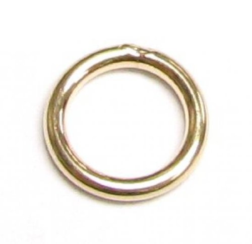 6 pcs 14k Gold Filled Round Closed Soldered Jump Rings 7mm 18ga 18 gauge Wire Connector/Findings/Yellow Gold (Round Closed Ring)