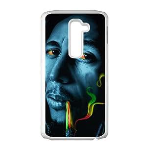 Bob marley rasta smoke Phone Case for LG G2 Case