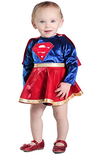 [Princess Paradise Baby Girls' Supergirl Costume Dress and Diaper Cover Set, As Shown, 18M/2T] (Toddler Supergirl Costumes)