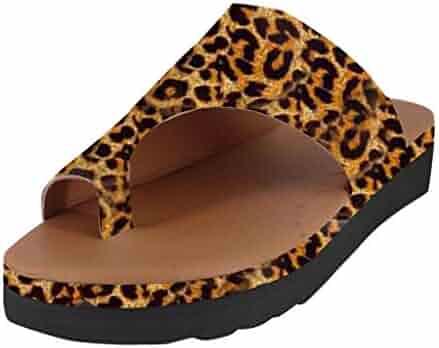 1681b4df0 Rolayllove Adult Shoes Women Flip Flops Flat Summer Basic Sandals Thongs  Sandals for Women Platform Beach Shoes
