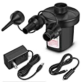 CAMTOA Portable DC Electric Air Pump, Inflator/Deflator Electric Pumps - Vacuum Compression Bags Suction Pump-110V AC/12V DC-Perfect for Using Outdoor and Indoor