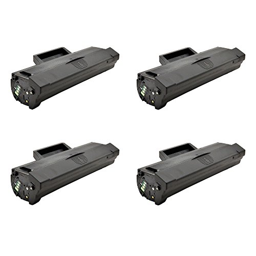 greencycle 4 PK Compatible Samsung MLT-D104L Toner Cartridges For Ml1665 Ml1660 Ml1865w