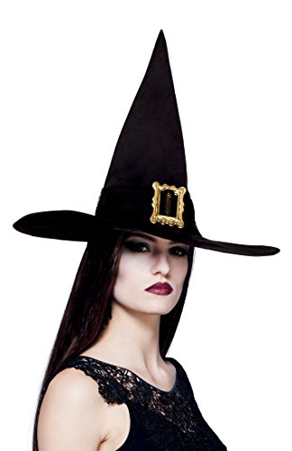 Boland-96900Lynn Adult Witch's Hat Black One Size