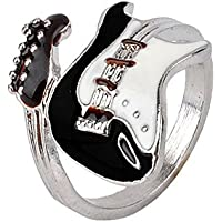 ERAWAN Women Guitar Punk Rings Charm Colorful Guitar Ring Musical Finger Ring EW sakcharn (16)