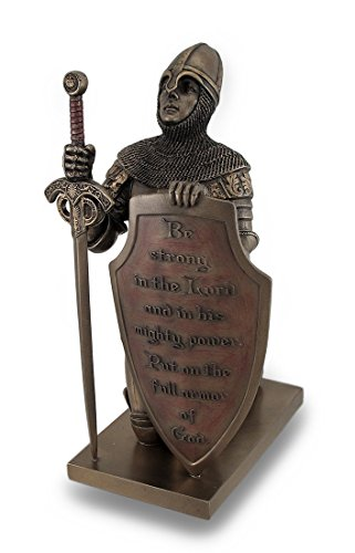 (Templar Knight Be Strong In The Lord Bronze Finish Statue)