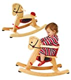 41LOQksH7NL. SL160  Grow With Me Wooden Rocking Horse with Removeable Safety Surround on the Seat