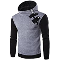 Bookear Mens Long Sleeve Hoodie Hooded Sweatshirt Tops Jacket Coat Outwear Multiple Colors Available