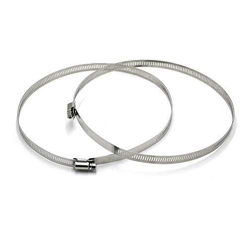 """Round Clamp (HiHydro 2 Pack Security Bracket Fastening Ring Diameter Stainless Steel Hoop Hose Ducting Clamps (200MM/8""""))"""