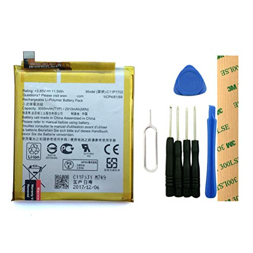 for Verizon ASUS ZenFone V Live V500KL A009 Replacement Battery C11P1702 Free Adhesive Tool