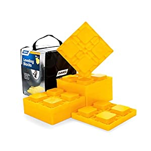 Camco 44510 Heavy Duty Leveling Blocks, Ideal for Leveling Single and Dual Wheels, Hydraulic Jacks, Tongue Jacks and…