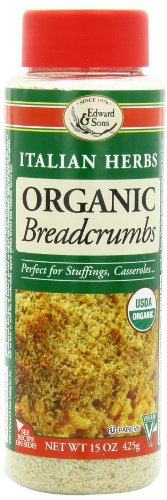 Edward & Sons Organic Breadcrumbs, Italian Herbs, 15-Ounce Container (Pack of (Sons Italian)