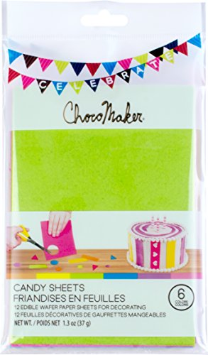 ChocoMaker Assorted Colors Edible Wafer Paper Candy - Edible Paper