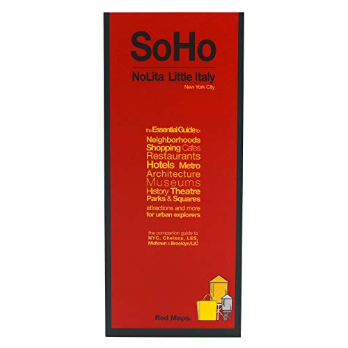 Red Maps SOHO & NOLITA, NYC Street Map and Shopping Guide (Soho Nyc)