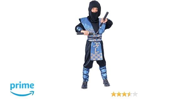 Disfraz infantil de ninja (talla L, 8-10 años): Amazon.es: Juguetes y juegos