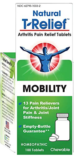 T-Relief Arthritis Tablets - Homeopathic Formula with Arnica for Minor Arthritis Pain and Joint Stiffness - 100 Tablets