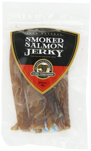 Alaska Smokehouse Salmon Jerky, 3-Ounce Bag (Fish Smoked Salmon)