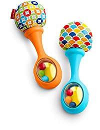 Fisher-Price Rattle 'n Rock Maracas, Blue/Orange BOBEBE Online Baby Store From New York to Miami and Los Angeles