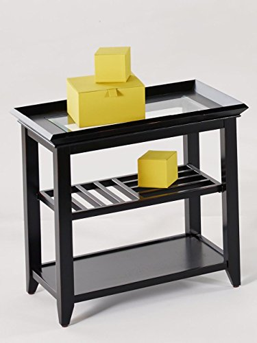 Progressive Furniture P344-04 Sandpiper Rectangular End Table, Black For Sale