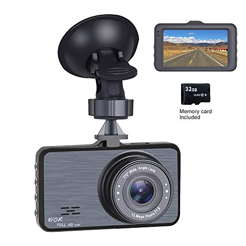 Dash Cam 1080P Car DVR Dashboard Camera Full HD with 3