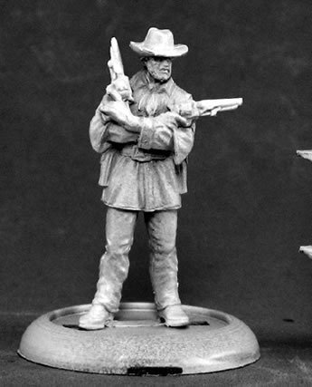 Jeb Lawson Western Outlaw Chronoscope Miniature Figures by Reaper - Miniature Western