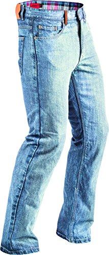 - Highway 21 Defender Men's Motorcycle Jeans W/CE Knee Armor/Kevlar Reinforced Panels Indigo Blue Size 38