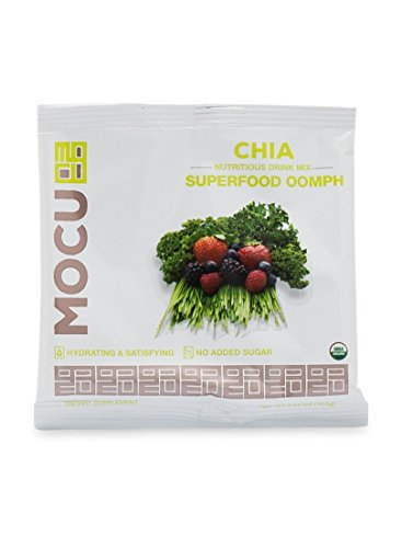 MOCU Organic Chia Drink Mix, Superfoods Oomph - No Sugar Added - 12 Count
