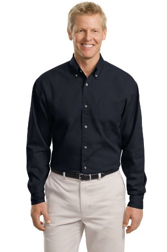 Port Authority Men's Tall Long Sleeve Twill Shirt LT Classic Navy