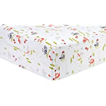 Trend Lab Deluxe Flannel Fitted Crib Sheet, Winter Woods