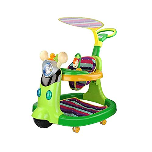 LFY Baby Walker with a Push Handle and a Parasol, The Pluggable U Disk Becomes an Early Education Machine