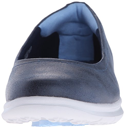 Skechers Performance Womens Go Step Challenge Walking Scarpe Navy / Camoscio Bianco
