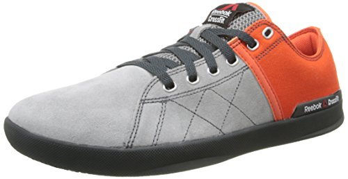 Reebok Men's Crossfit Lite LO TR Training Shoe, Flat Grey/Flux Orange/Hazard Orange/Gravel/Graphite, 8.5 M US