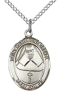 Swimming St Christopher Medal in Fine Pewter 18 Rhodium Plated Clasp Chain 3//4 tall