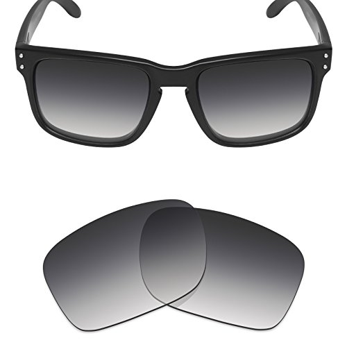 Mryok Polarized Replacement Lenses for Oakley Holbrook - Grey Gradient Tint ()