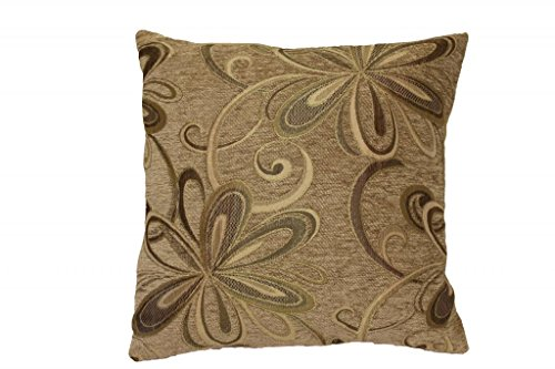 Violet Linen Chenille Chateau Vintage Floral Design Decorative Cushion Cover, 18