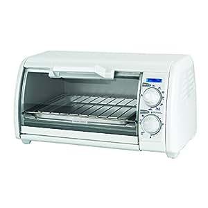 BLACK+DECKER TRO420 Toast-R-Oven 4-Slice Countertop Oven/Broiler, White