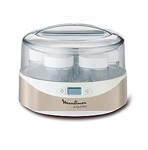 Moulinex Yogurteo YG231E32 - Yogurtera, capacidad de 7 tarrinas de 160 ml libres de BPA aptas para el lavavajillas, con pantalla display de fácil uso, programable 15 horas, con recetario