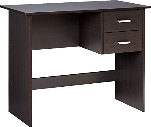 OneSpace 50-7005ES Modern Writing Desk with 2 Side Drawers, Espresso