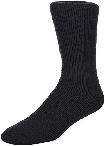 Men's Polar Extreme Moisture Wicking Insulated Thermal Socks in 4 Great Colors (Black),6-12