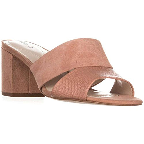 Open Womens Leather Casual Slide Sandals Toe Pink Rochele Alfani Apricot Tx6qtdd