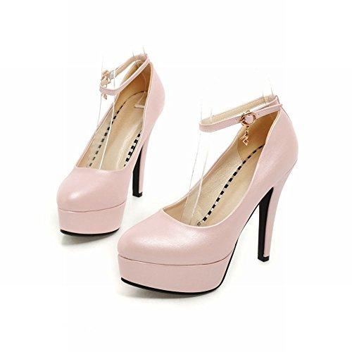 Sandali Della Piattaforma Del Tallone Del Tallone Dello Stiletto Della Caviglia Di Modo Delle Donne Di Latasa Rosa