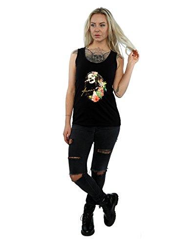 Top Joplin Negro Tank Janis Pattern Mujer Floral w8dqnHvX