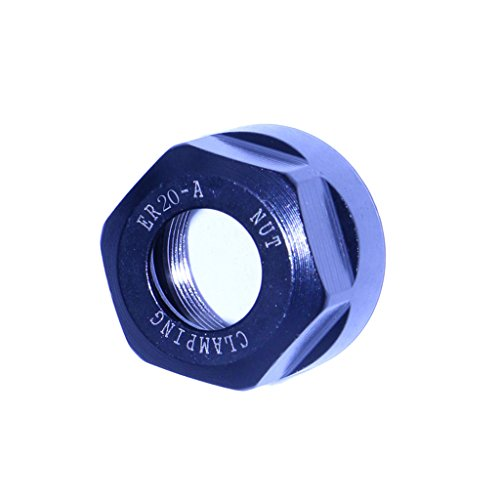2 PCS Drills ER20 Collet Clamping Nut for CNC Milling Collet Chuck Holder Lathe (Collet Clamping Nuts)