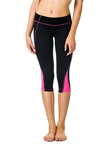 la-gear-low-rise-basic-performance-yoga-leggings-with-breathable-mesh-trim-small-black-pink